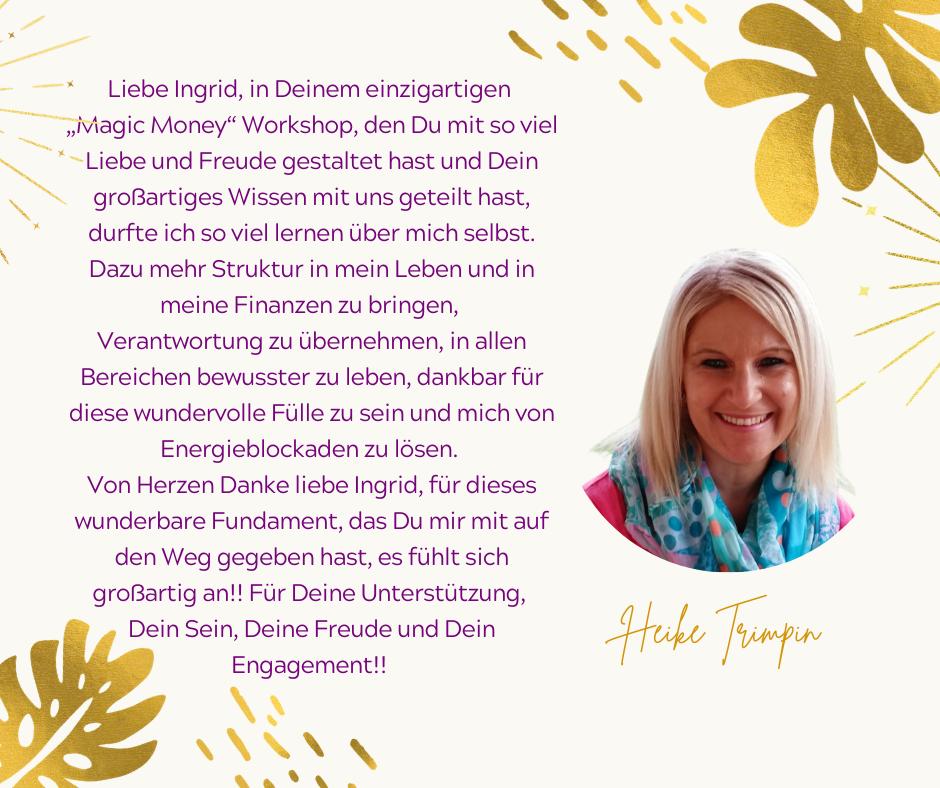 Testimonial Heike Trimpin